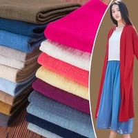 su fuer cotton and linen crepe pleated breathable skin friendly retro ethnic pink red white gray skirt fabric by the meter 6 8 5