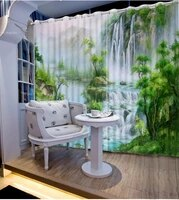 3d curtain photo customize size oil painting nature landscape waterfall curtains for bedroom curtains for living room