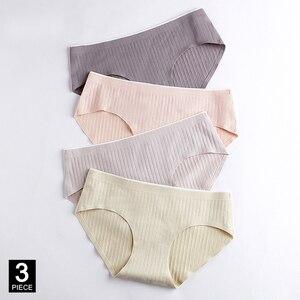 Cotton Woman Panties Sexy Seamless Briefs Underwear Breathable Female Panty Girl Underpants Set M-XXL 3 Pcs/lot Dropshipping