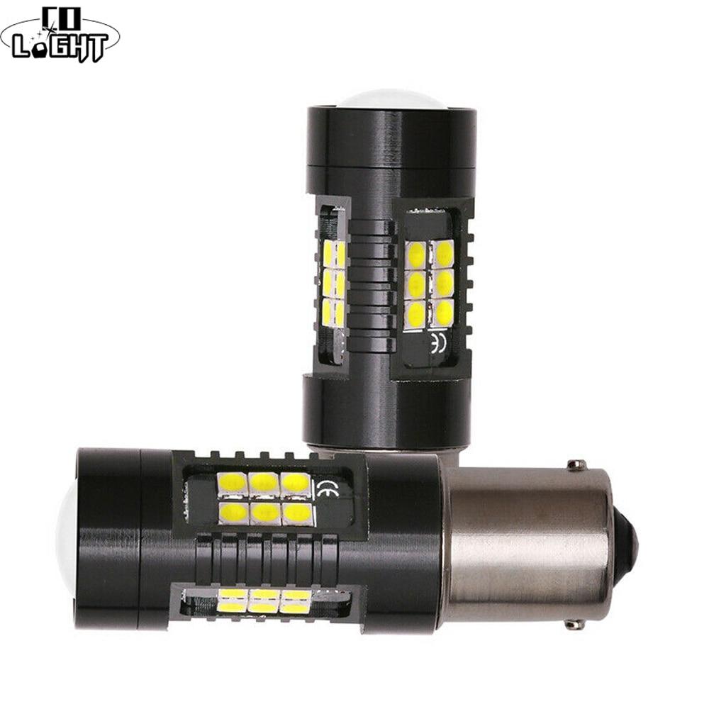Автомобильная светодиодная лампа CO светильник P21W 1156 BA15S Canbus, автомобильная светодиодная лампа 3030SMD, автомобильная лампа дневного хода, 12 В, 24...