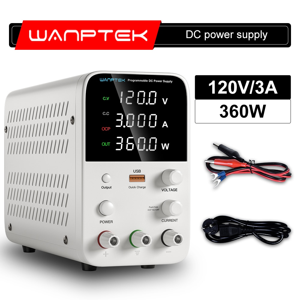 Wanptek 120 فولت 3A التبديل قابل للتعديل تيار مستمر امدادات الطاقة مختبر شاشة LED رقمية ضبط تيار مستمر ينظم مقعد المصدر لتقوم بها بنفسك أداة