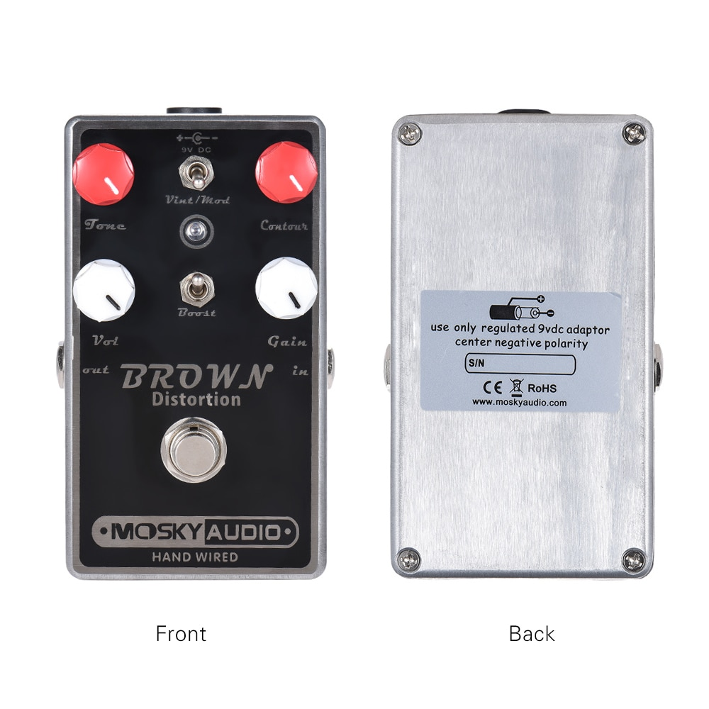 Mosky Brown Distortion Guitar Effect Pedal Synthesizer Effector Boost Switch Vintage/Modern Switch Full Metal Shell True Bypass enlarge