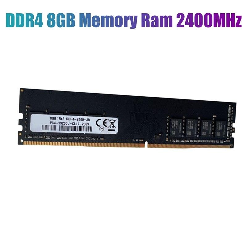 DDR4 8GB ذاكرة عشوائية Ram 2400MHz PC4-19200 1.2V 284PIN دعم ثنائي القناة لمذكرة سطح المكتب AMD