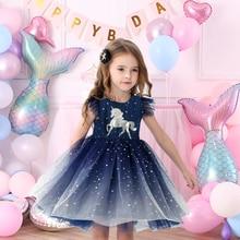 Vestido Infantil enfants été robe de princesse filles Performance Costumes enfants fête danniversaire école décontracté licorne robes