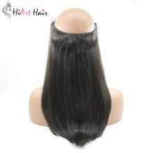 HiArt 100g Halo Extensions de cheveux humains Remy cheveux usine ligne de poisson Double dessiné postiches droite retourner dans lextension de cheveux 16