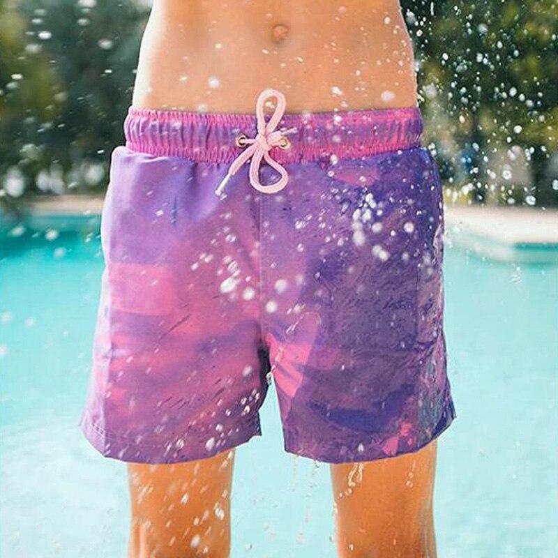 Pantalones Cortos Con Cambio De Color Para Hombre Banador Magico Para Playa Banadores Pantalones Cortos De Secado Rapido Envio Directo Deshevyj Magazin Sexresort