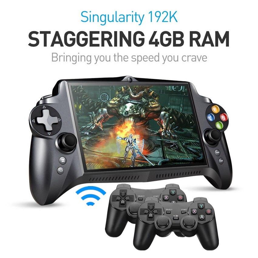 التفرد S192K 7 بوصة 1920X1200 رباعية النواة 4G/64GB غمبد 10000mAh الروبوت اللوحي متعددة لعبة وحدة 18 محاكاة لعبة