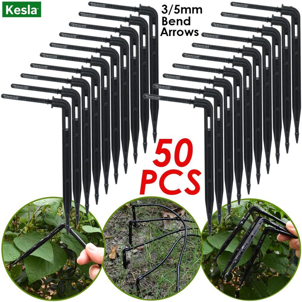 50pcs bend arrow dripper micro drip irrigation kit emitter untuk 3 / - Peralatan berkebun - Foto 1