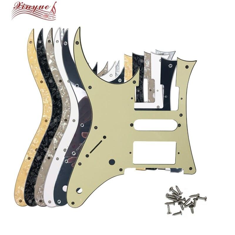 Piezas de guitarra Pleroo para MIJ Ibanez RG2550Z guitarra Pickguard Humbucker HSH Pickup Scratch Plate con 10 tornillos con agujero