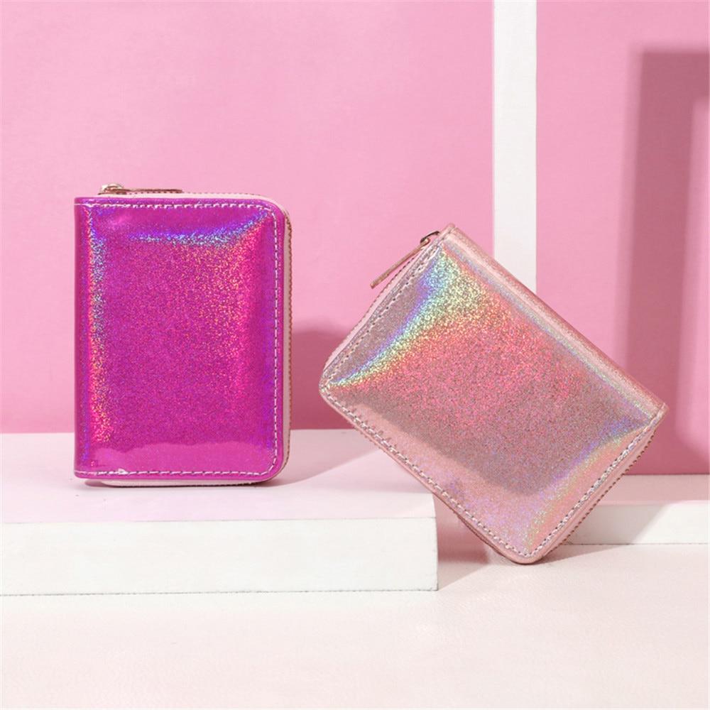 Portefeuilles en cuir sac à main femmes holographique Laser organisateur dames longs sacs à main femme fille sac à main porte-carte didentité
