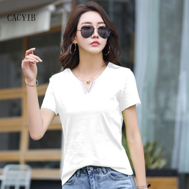 Новинка 2021 футболка с коротким рукавом для женщин в Южной Корее свободного кроя и большого размера под футболку с коротким рукавом