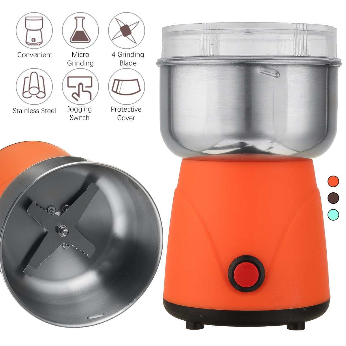 مطحنة بن كهربائية المطبخ الكهربائية الحبوب المكسرات الفول التوابل الحبوب طاحونة آلة متعددة الوظائف المنزل طاحونة القهوة