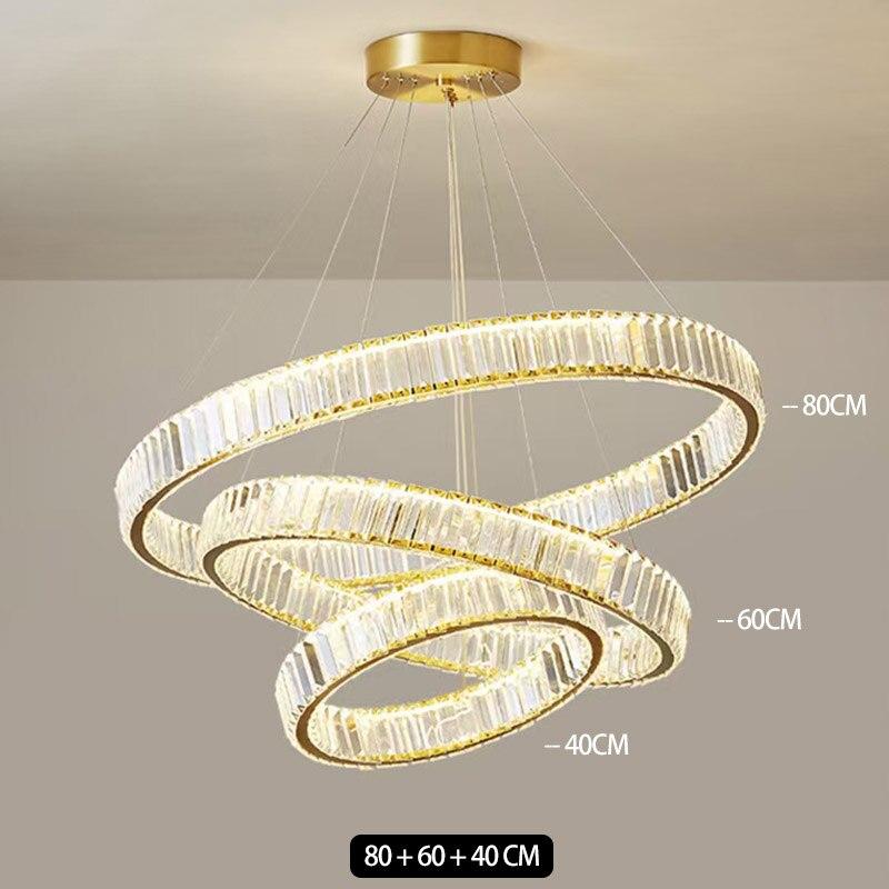 Современная роскошная круглая хрустальная люстра, освещение для гостиной, столовой, виллы, лестницы, ресторана, домашний декор, хромированн...