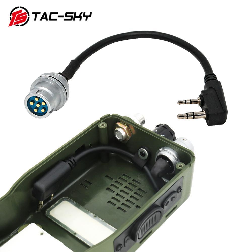TAC-SKY AN/PRC 148 152 152A walkie-talkie DIY коннектор U 283 U-283/U 6-контактный разъем для kenwood socket adapter