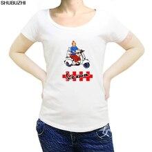 summer fashion women t shirt TINTIN VESPA Cartoon T-SHIRT cool o-neck tee shirt casual pattern print tshirt sbz1103