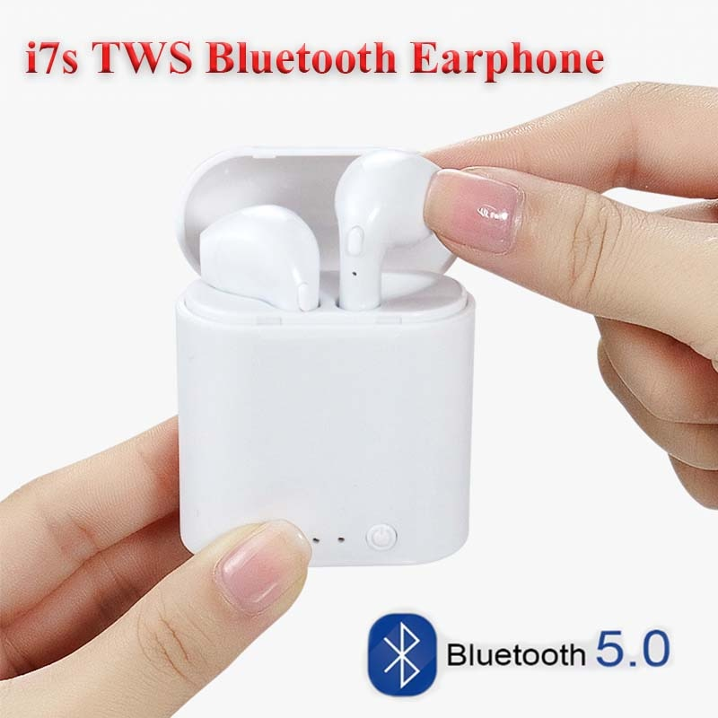 High Quality i7s Tws Wireless Headphones Bluetooth 5.0 Earphone Black/White Color Suit For Samsung iPhone Headphones