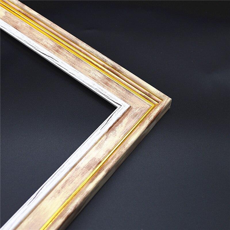 DIY искусственная деревянная Золотая Внешняя рамка для алмазной живописи плакат фоторамка настенная художественная картина рамка холст Худ...