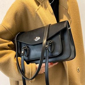 Vintage Large Armpit bag 2021 Fashion New High-quality PU Leather Women's Designer Handbag High capacity Shoulder Messenger Bag