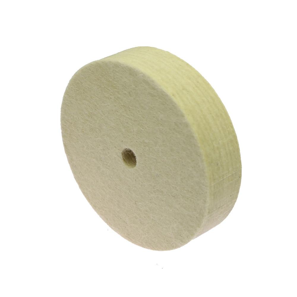 1dílný kotouč na leštění plsti pro leštěnou brusku na kovové - Brusné nástroje - Fotografie 3