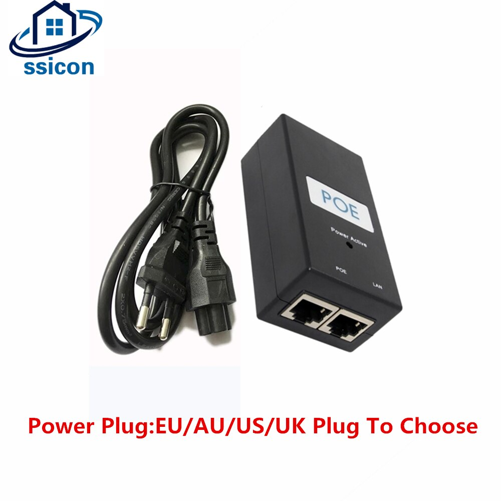 CCTV Camera POE Adapter 48V 1A POE Injector For POE IP Camera With EU/AU/US/UK Power Plug enlarge