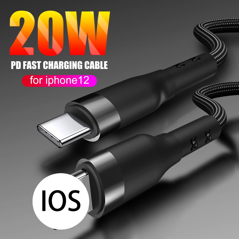2-Paquete de 20W USB tipo C PD rápida Cable de carga para...