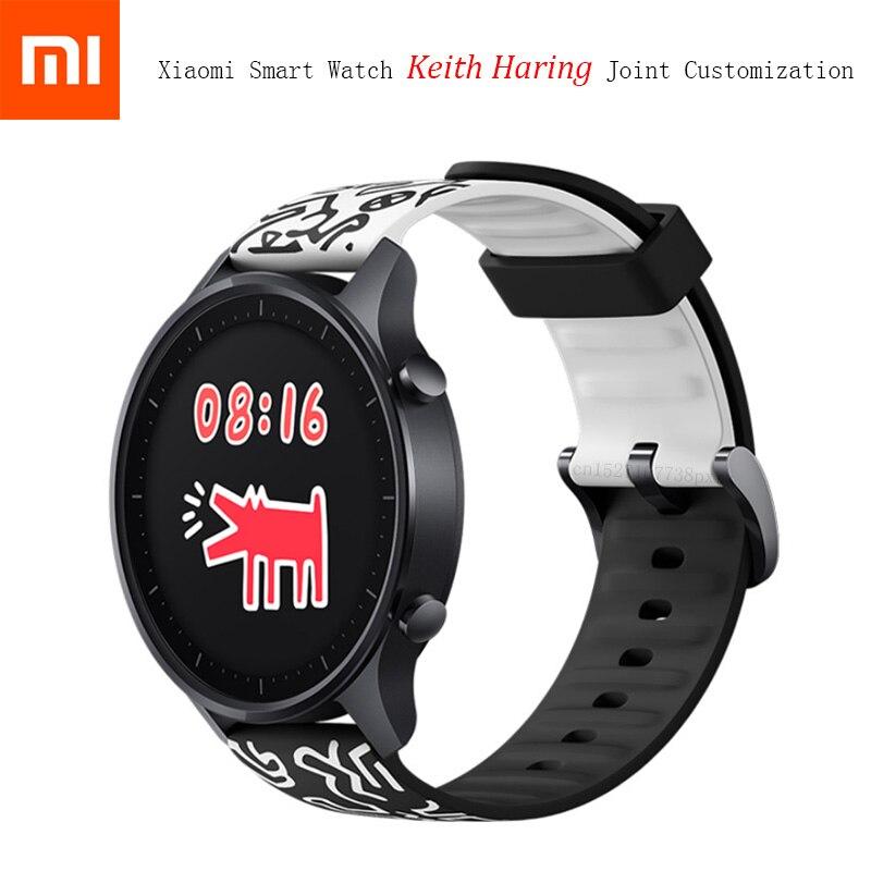 Xiaomi Mijia Smart Watch Color Keith Haring Joint personalizado doble Graffiti Correa presión ritmo cardíaco monitoreo deporte ejercicio