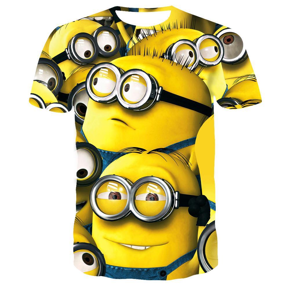 Summer clothes men tshirt despicable minions t shirt 3d print cartoon character t-shirts tee tops