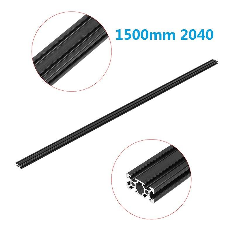 Черный анодированный 1500 мм длина 2040 Т-образных алюминиевых профилей экструзионная рама для ЧПУ 3D принтера плазменная Лазерная подставка мебель