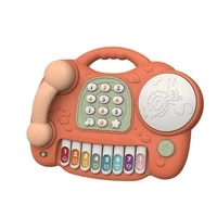 cute childrens toy phone infant multifunctional boys and girls puzzle early education sound and light music piano phone