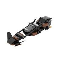moc space scout trooper speeder bike building blocks bricks hith tech model diy toys childrens education boys gifts 85pcs