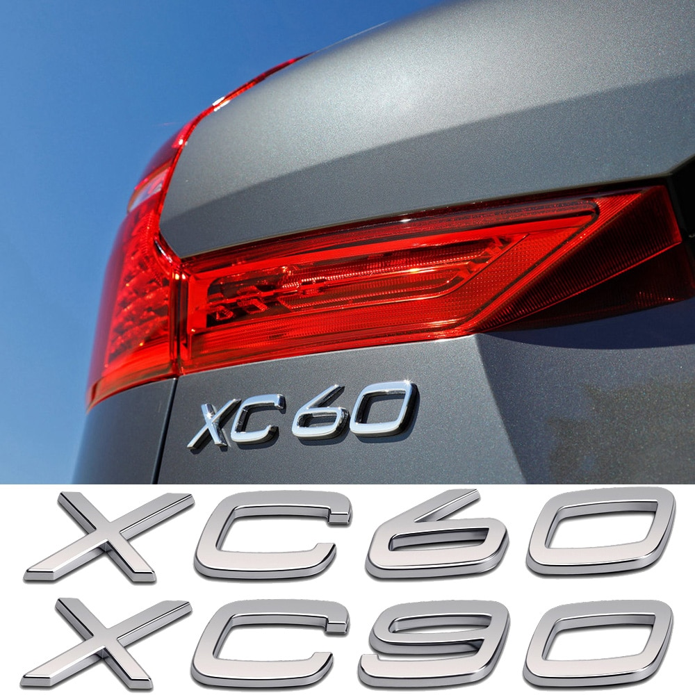Para Volvo XC60 XC90 letras de maletero trasero Logo pegatina 3D ABS insignia embellecedor Decoración Accesorios Auto cola palabra Placa de nombre Personalización de automóviles