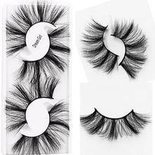 2 pares de pestañas postizas naturales 3D pestañas postizas hechas a mano maquillaje de ojos Wispy Faux Mink pestañas extensión volumen pestañas de visón suave