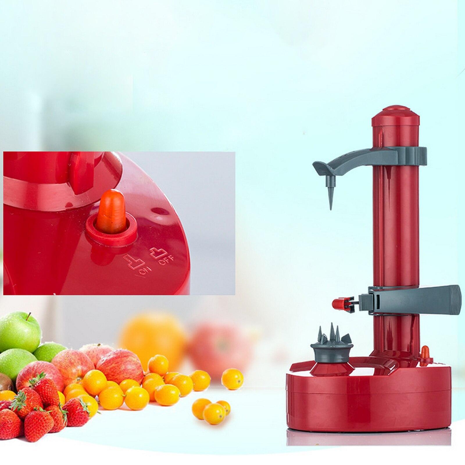 الكهربائية دوامة أداة تقشير التفاح القاطع Slicer الفاكهة البطاطس التلقائي تعمل آلة مقشرة آلة تقطيع أدوات مطبخ