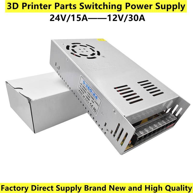 العلامة التجارية الجديدة ثلاثية الأبعاد أجزاء الطابعة تحويل التيار الكهربائي التيار المتناوب/تيار مستمر 12 فولت 30A S-360-12 360 واط و التيار المتن...
