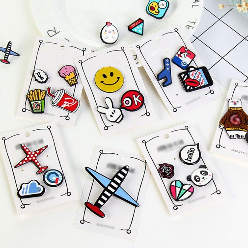 Collar de moda de dibujos animados de acrílico Pin Badge aviones oso accesorios ropa insignias embellecer iconos broche zapatos paquete