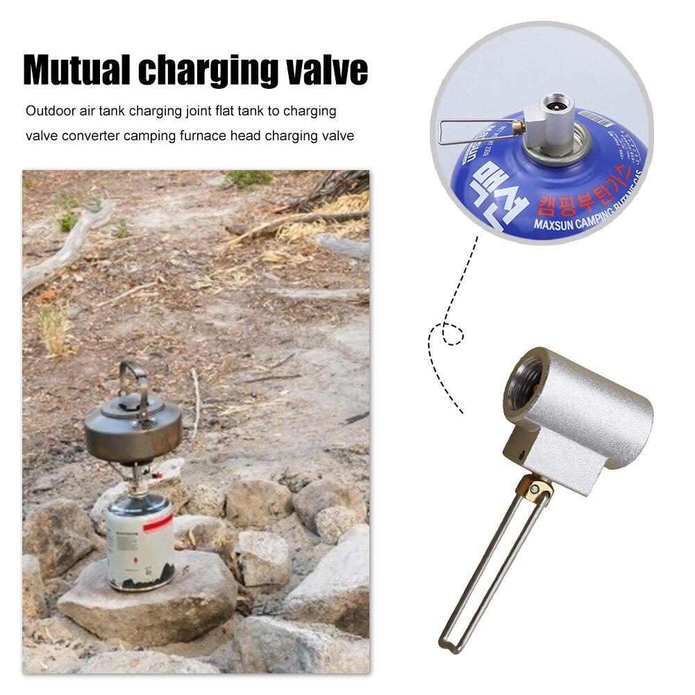 Conector de cartucho de estufa para exterior, adaptador para recarga de Gas, válvula de Gas para Camping, elementos portátiles para exteriores