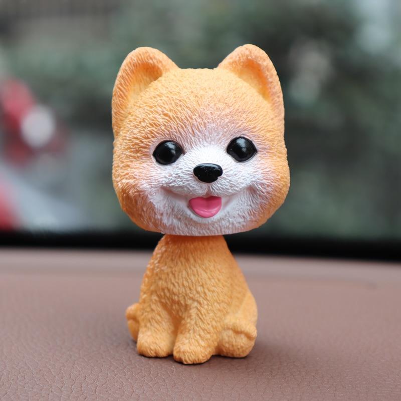 Car Ornaments Bobblehead Dog Nodding Puppy Toys Car Dashboard Decor Toy Lovely Wobble Shaking Head Dolls Auto interior Accessory