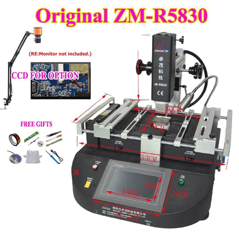 الأصلي ZM-R5830 الهواء الساخن بغا محطة إعادة العمل 3 مناطق rebيعادل محطة مع المجهر CCD + الملقط الشريط فراغ القلم قفاز