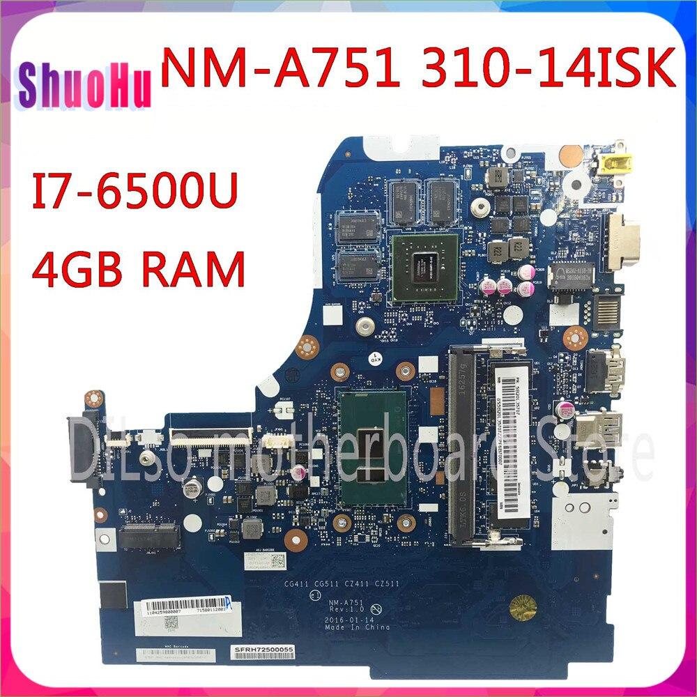 KEFU NM-A751 ل I7-6500U 4 جيجابايت رام GT920M-2GB اختبار موافق لينوفو 310-14ISK 510-14ISK اللوحة المحمول ثينك باد DDR4 HM87 إنتل