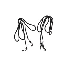 2pcs Black Strap Stretchy Neck Cord Outdoor Sports Eyeglasses String Sunglass Rope Band Holder Glass