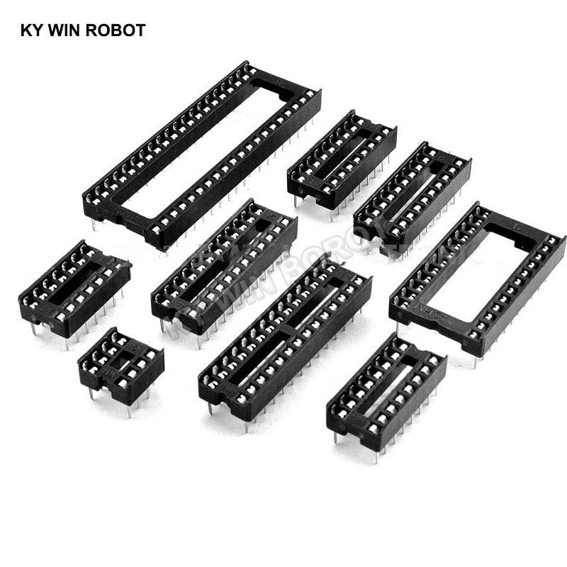 aliexpress.com - 10PCS IC Sockets 2.54MM DIP6 DIP8 DIP14 DIP16 DIP18 DIP20 DIP28 DIP40 pins Connector DIP Socket 6 8 14 16 18 20 24 28 32 40 pin