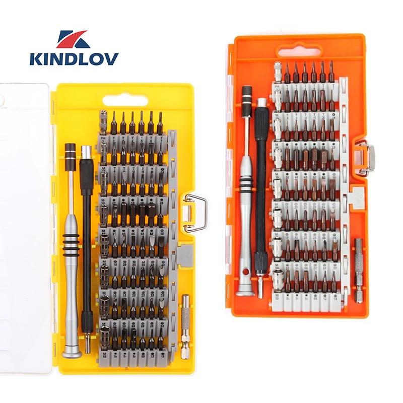 KINDLOV Screwdriver Set Magnetic 60 In 1 Destornillador BIt Kit Precision Torx Hex Phillips Screw Driver Multitools Hand Tools