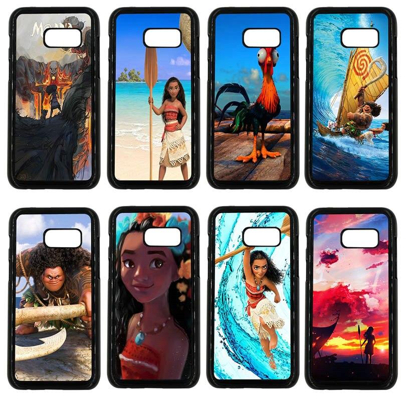 Princess Moana Cartoon Colorful Phone Case for Samsung Galaxy A3 A5 A7 A8 2015 2016 2017 2018 Note 8 5 3 2 Shell Hard PC Cover