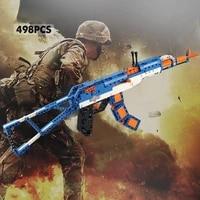 498pcs ak 47 assault rifle technical model building blocks set military weapon bricks city game gun toys for children