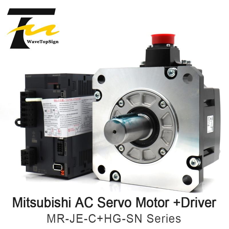 ميتسوبيشي AC محرك سيرفو أطقم سائق مكبر للصوت + موتور سائق MR-JE-70C + HG-SN52JK 500W MR-JE-200C + HG-SN202JK 2KW