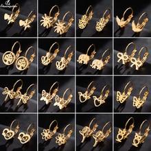 Shuangshuo Charming Stainless Steel Small Stud Earrings Butterfly Ear Piercing Jewelry for Women Ani