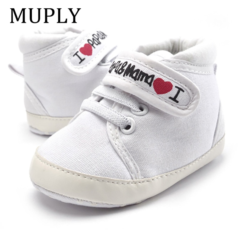 mocassins zapato mocassins 0-18M Baby Mocassins Infant Toddler Baby Boys Girls Print Letter Love PAPA&MAMA Soft Sole Canvas Sneaker Anti-Slip Newborn Shoes