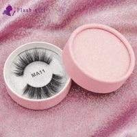 flash girl ma11 best seller mink strip eyelashes 3d wholesale items wispy mink eyelashes high quality fake eyelashes