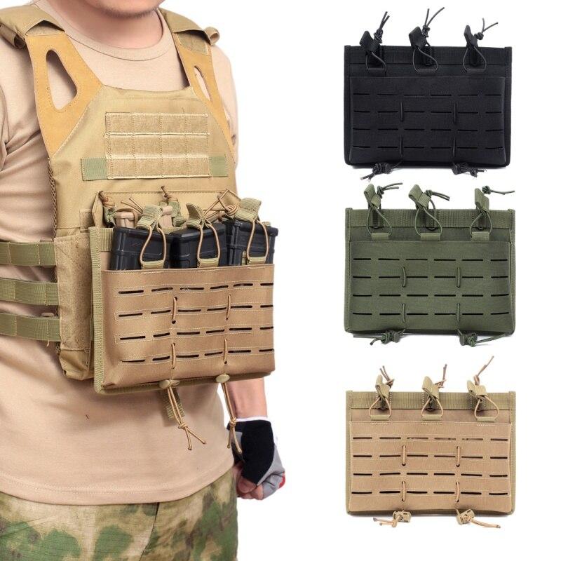 Bolsa de revista táctica Molle soporte de Mag abierto Triple Airsoft Mag bolsa de caza pistolera de pistola