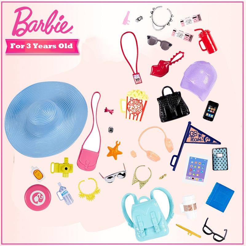 Accesorios de moda de Barbie, paquete Original de accesorios de Turismo, FKR90,...